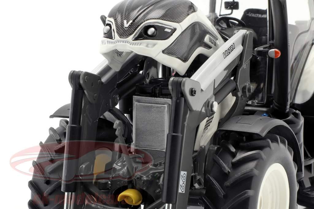 Valtra T174 trator com frente carregador branco / preto 1:32 Wiking