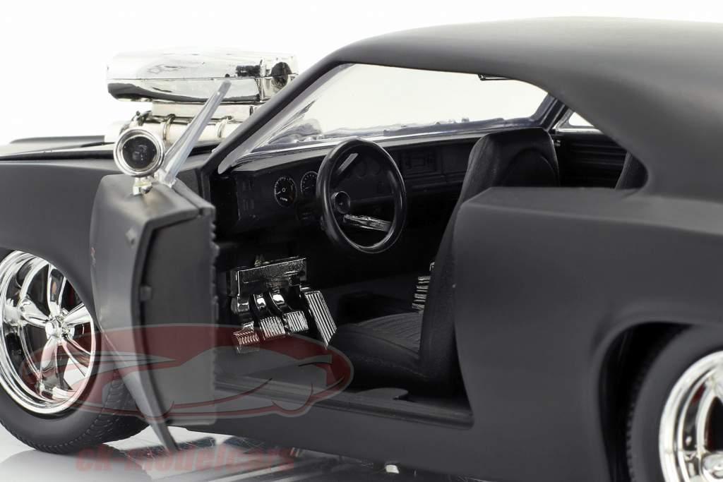 Dodge Charger R/T ファスト と 猛烈な 7 マット 黒 2015 1:24 Jada Toys