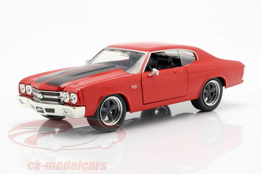 Dom's Chevrolet Chevelle SS Fast and Furious rojo / negro 1:24 Jada Toys
