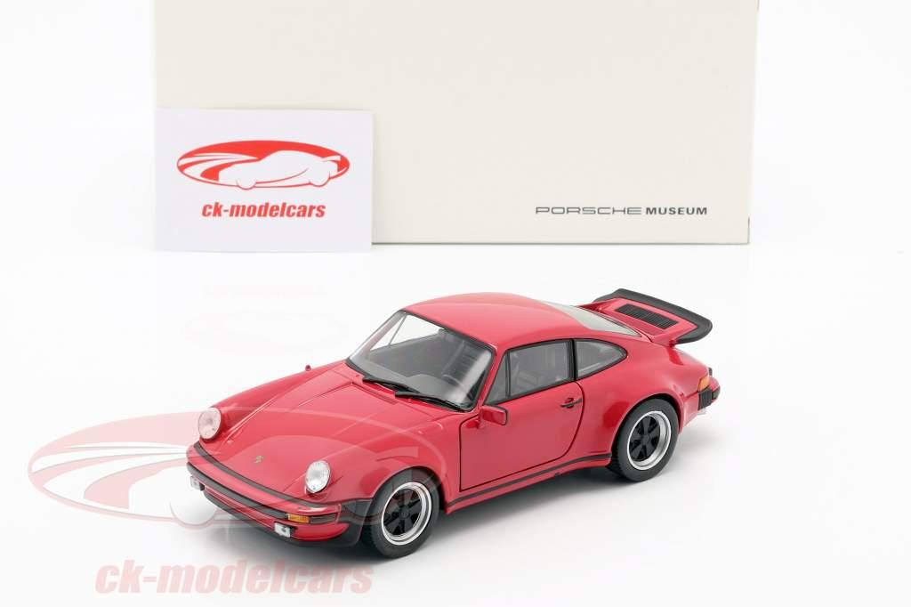 Porsche 911 (930) Turbo Jaar 1975 rood 1:24 Welly