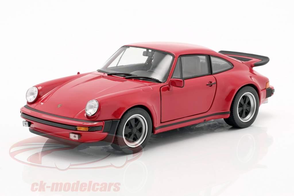 Porsche 911 (930) Turbo Ano 1975 vermelho 1:24 Welly