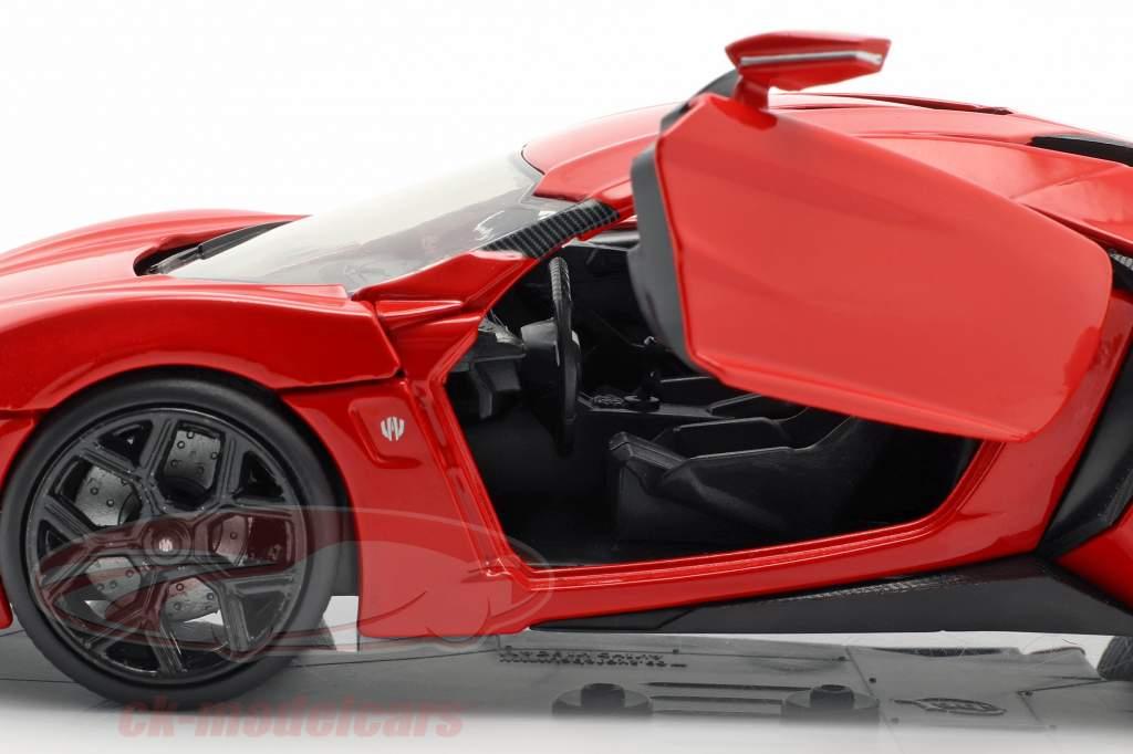 Lykan Hypersport aus dem Film Fast and Furious 7 2015 rot 1:24 Jada Toys