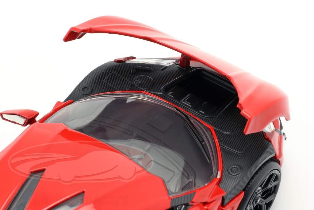 Lykan Hypersport à partir de la Film Fast et Furieux 7 2015 rouge 1:24 Jada Toys