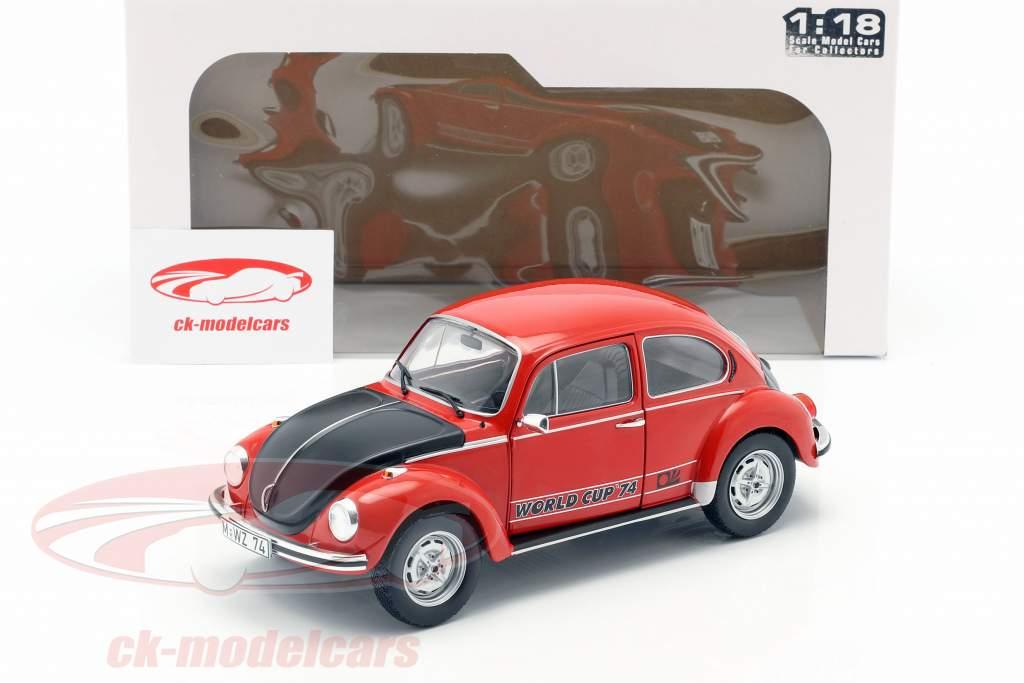 Volkswagen VW bille 1303 World Cup Edition 1974 rød / sort 1:18 Solido