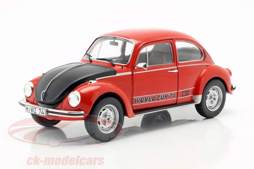 Volkswagen VW Käfer 1303 World Cup Edition 1974 rot / schwarz 1:18 Solido