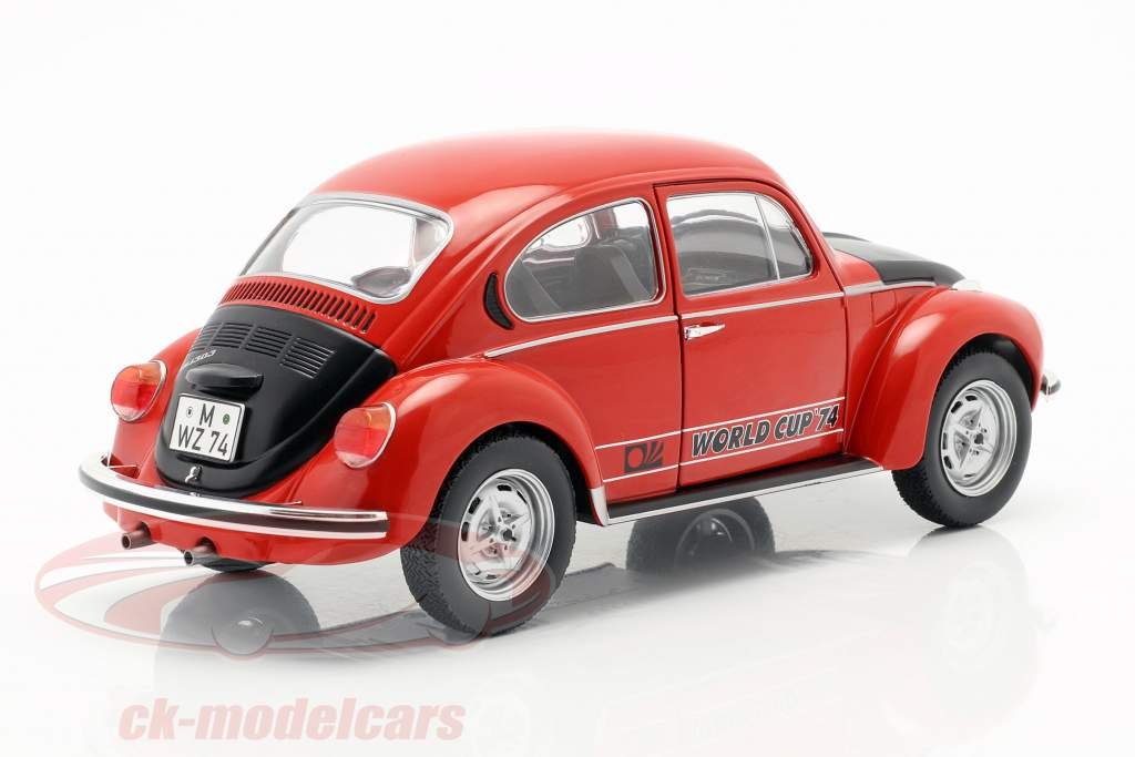 Volkswagen VW coléoptère 1303 World Cup Edition 1974 rouge / noir 1:18 Solido