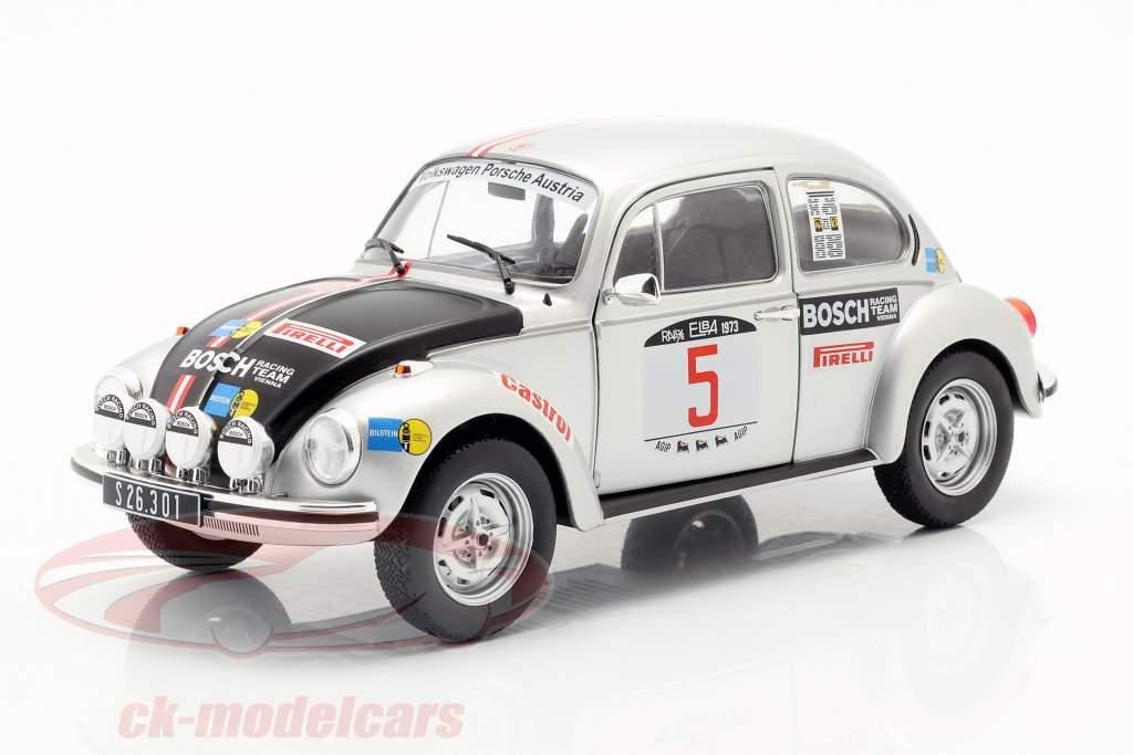 Volkswagen VW kever 1303 #5 winnaar Rallye Elba 1973 Warmbold, Häggbom 1:18 Solido