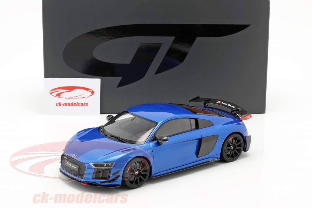 Audi R8 Performance Parts Baujahr 2018 blau 1:18 GT-Spirit