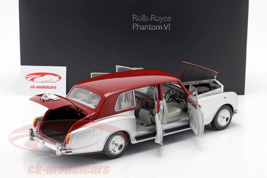 Rolls Royce Phantom VI silber / rot 1:18 Kyosho