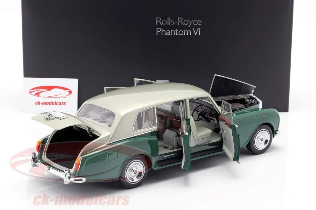 Rolls Royce Phantom VI verde / prata 1:18 Kyosho