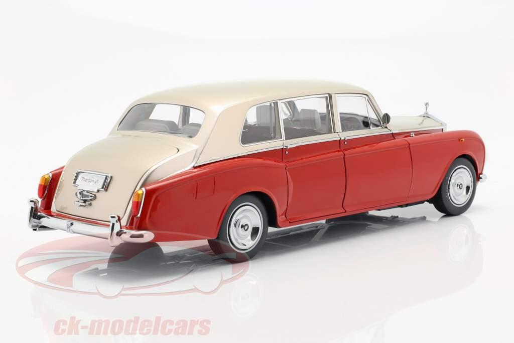 Rolls Royce Phantom VI vermelho / luz bege 1:18 Kyosho