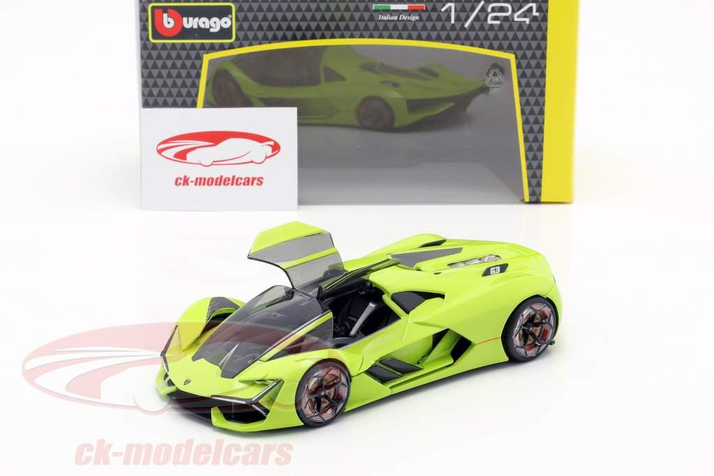 Lamborghini Terzo Millennio Opførselsår 2019 lys grøn 1:24 Bburago