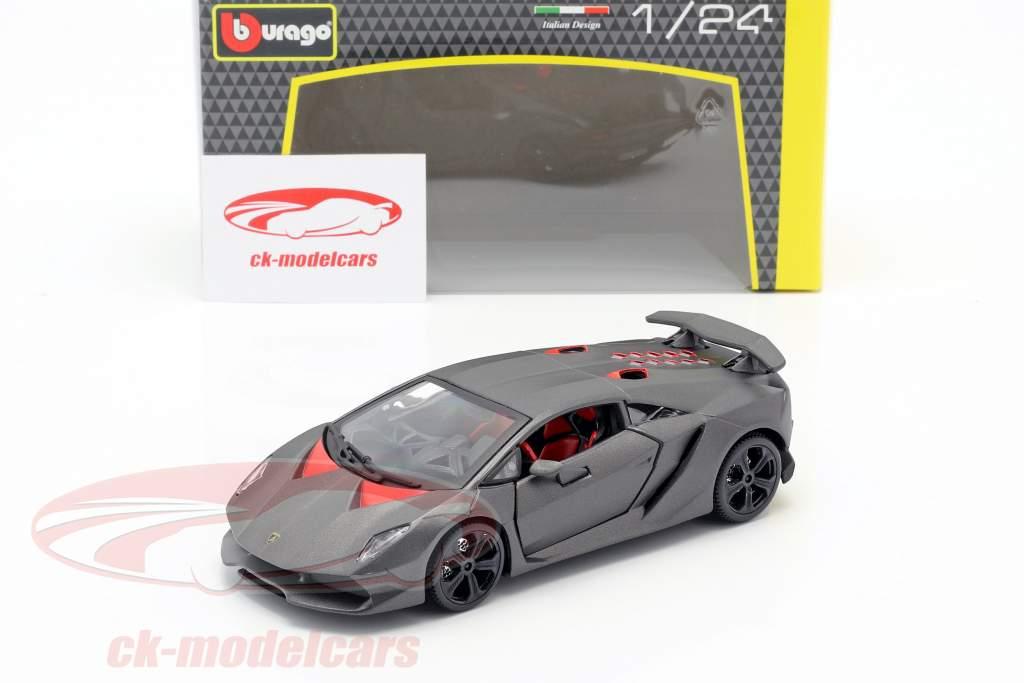 Lamborghini Sesto Elemento grå metallisk 1:24 Bburago