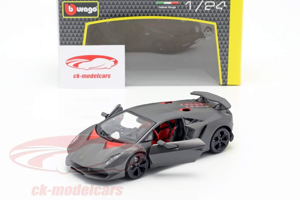 Lamborghini Sesto Elemento gris metálico 1:24 Bburago