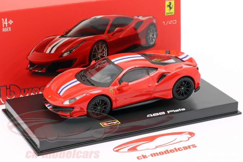 Ferrari 488 Pista Bouwjaar 2018 corsa rood metalen 1:43 Bburago