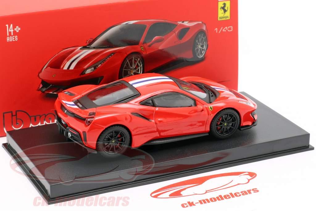 Ferrari 488 Pista año de construcción 2018 corsa rojo metálico 1:43 Bburago