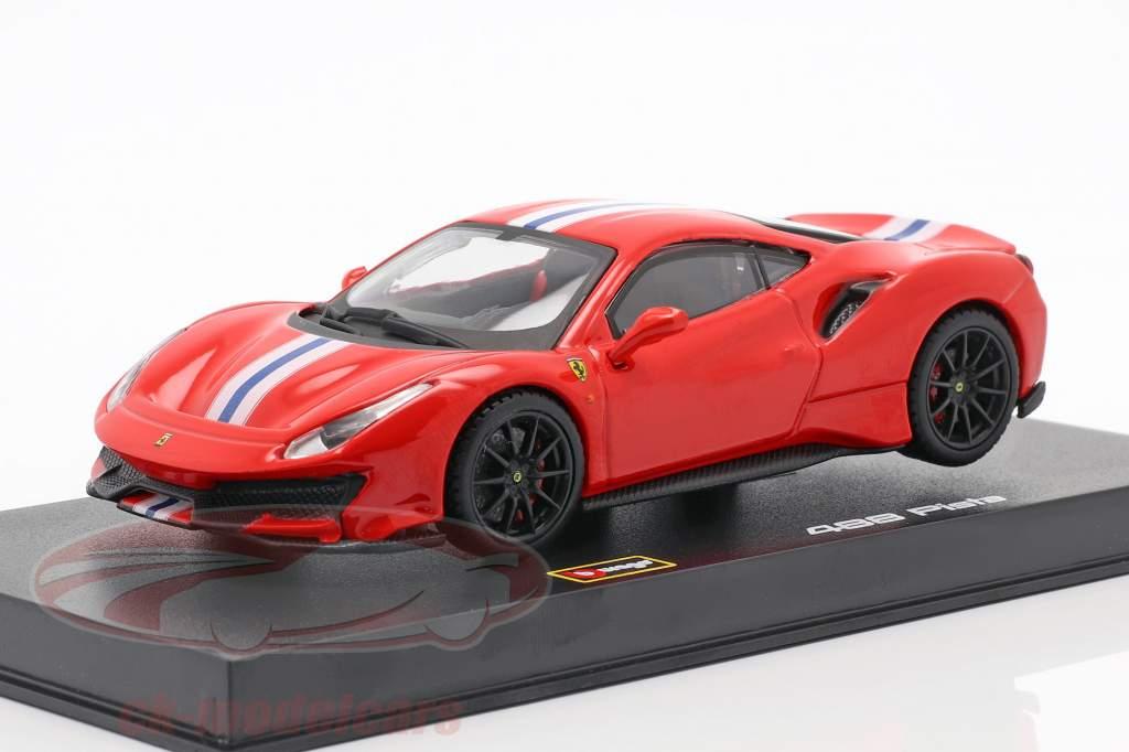 Ferrari 488 Pista anno di costruzione 2018 corsa rosso metallico 1:43 Bburago