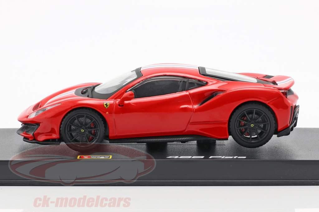 Ferrari 488 Pista Baujahr 2018 corsa rot metallic 1:43 Bburago