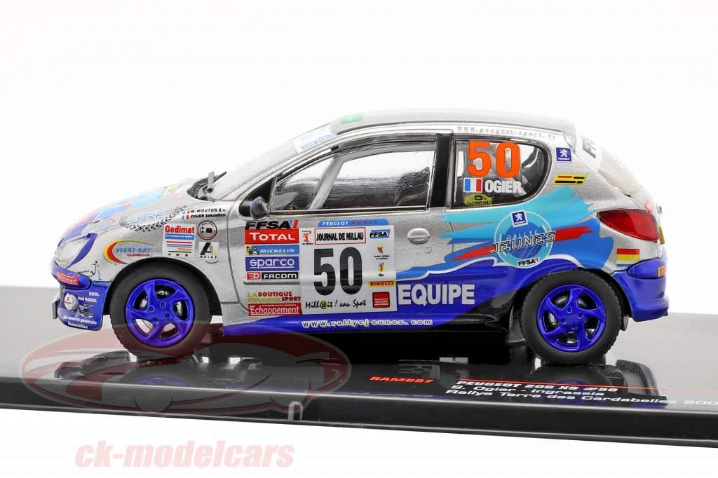 Peugeot 206 XS #50 Rallye Terre des Cardabelles 2006 Ogier, Ingrassia 1:43 Ixo