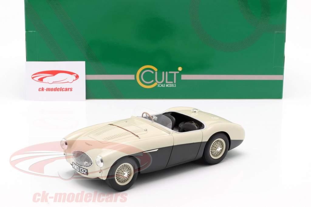 Austin Healey 100S Baujahr 1955 creme weiß / grün 1:18 Cult Scale