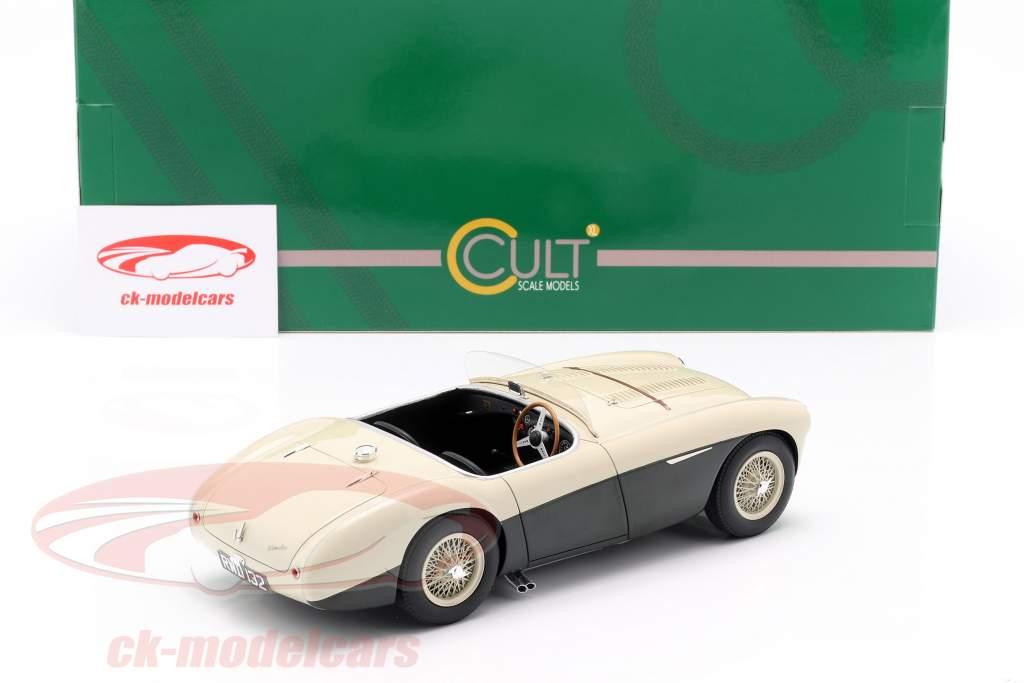 Austin Healey 100S anno di costruzione 1955 crema bianco / verde 1:18 Cult Scale