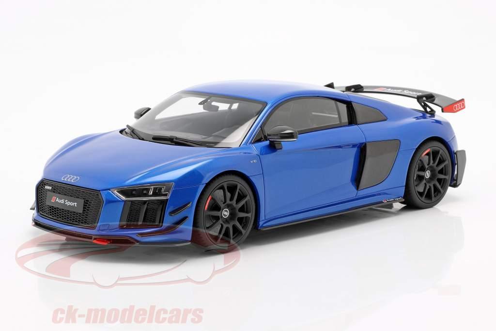 Audi R8 Performance Parts year 2018 blue 1:18 GT-Spirit
