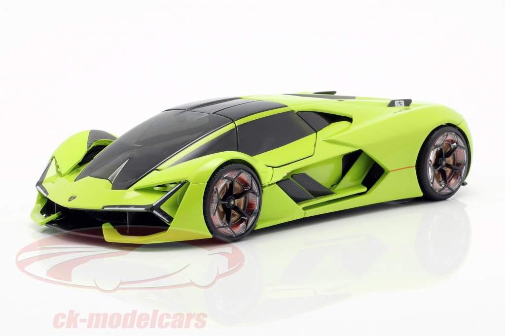 Lamborghini Terzo Millennio Baujahr 2019 hellgrün 1:24 Bburago