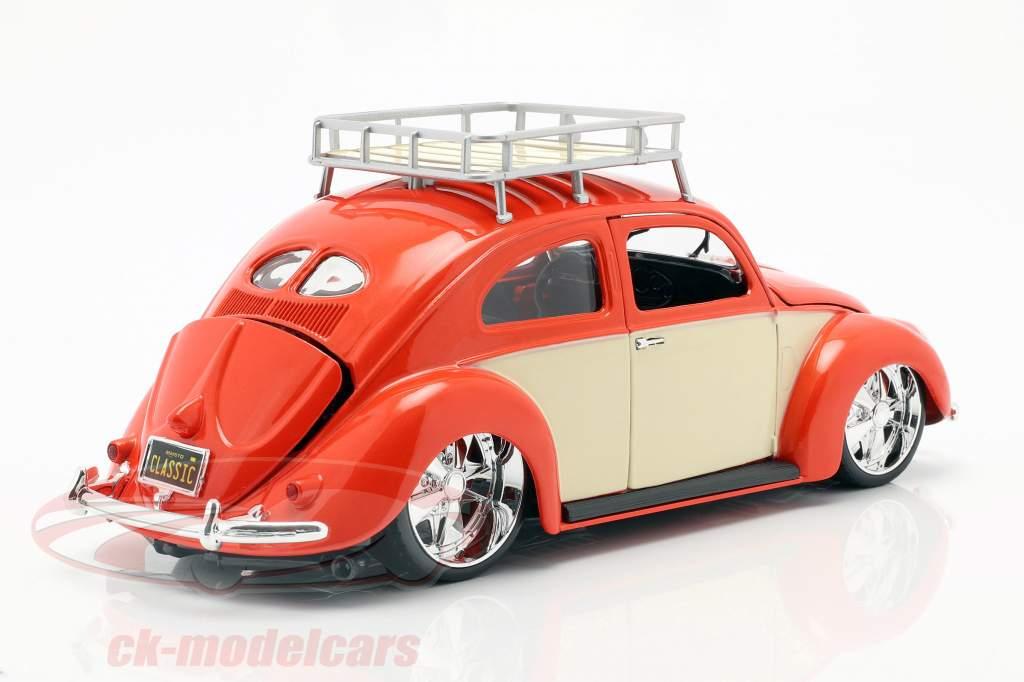 Volkswagen VW Käfer Baujahr 1951 rot / creme weiß 1:18 Maisto