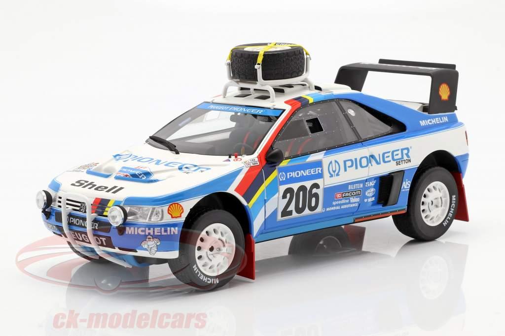Peugeot 405 T16 #206 2º Rallye Paris - Dakar 1989 Ickx, Tarin 1:18 OttOmobile