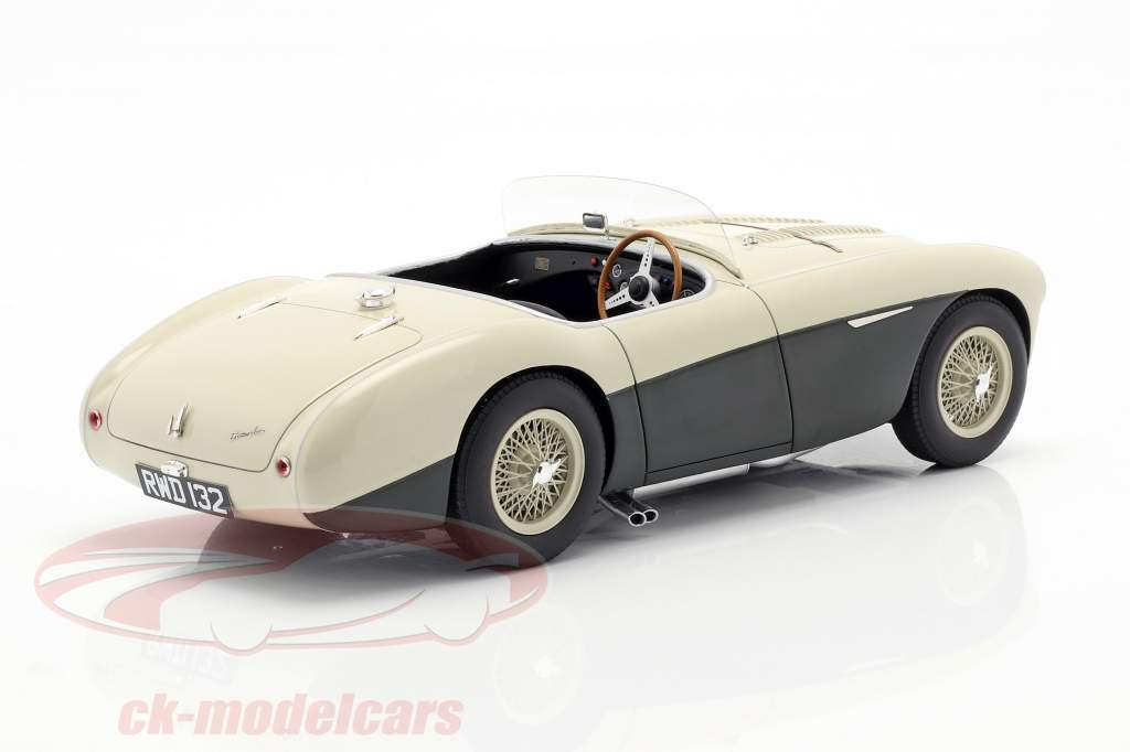 Austin Healey 100S year 1955 cream white / green 1:18 Cult Scale