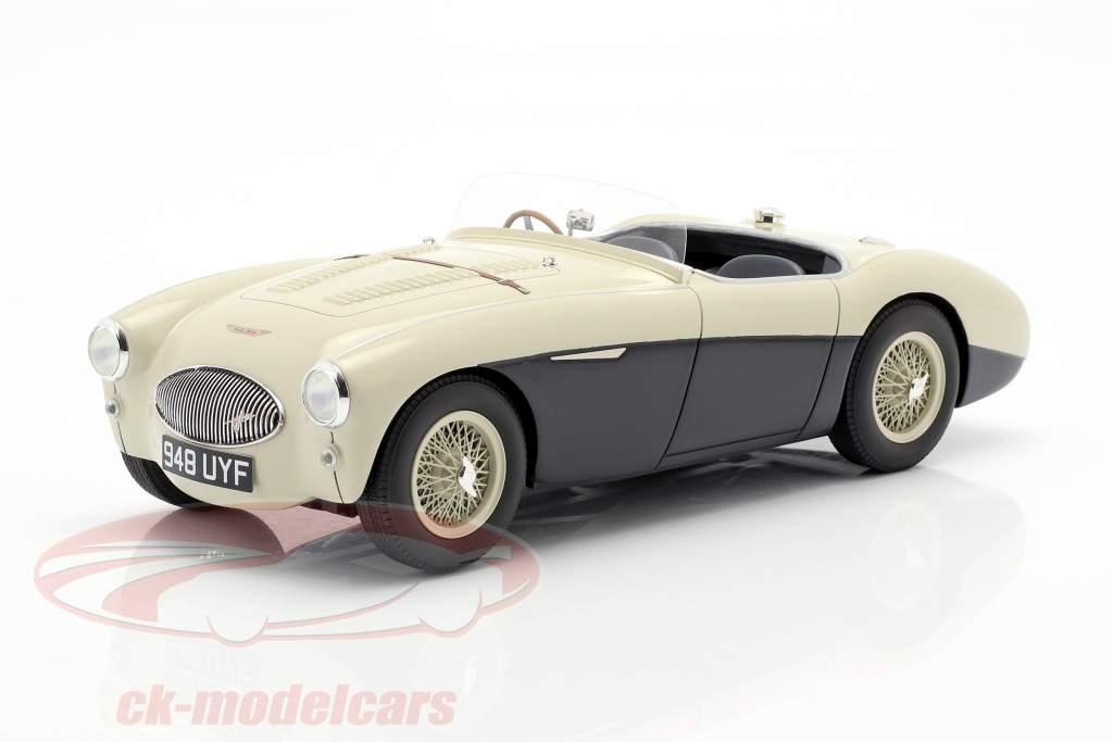 Austin Healey 100S year 1955 cream white / blue 1:18 Cult Scale