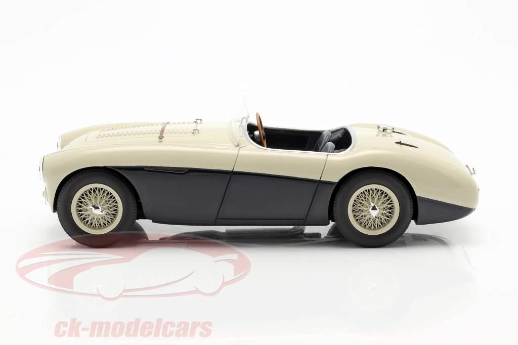 Austin Healey 100S anno di costruzione 1955 crema bianco / blu 1:18 Cult Scale