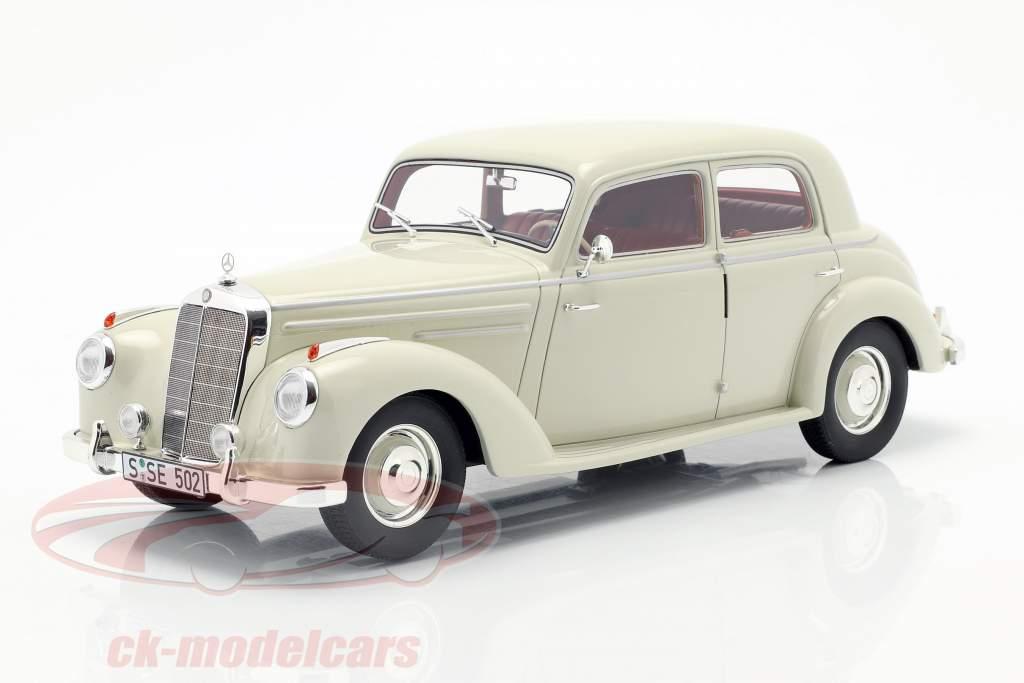 Mercedes-Benz 220 (W187) sedan ano de construção 1953 creme branco 1:18 Cult Scale