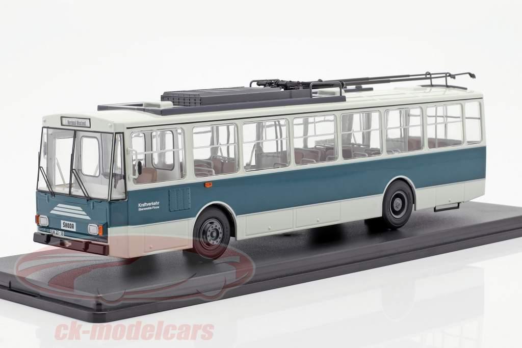 Skoda-14TR O-Bus Eberswalde bianco / verde scuro 1:43 Premium ClassiXXS