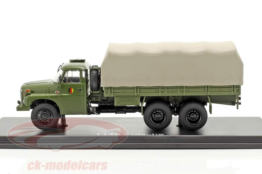 Tatra T148 caminhão plataforma com encerado oliva verde 1:43 Premium ClassiXXs