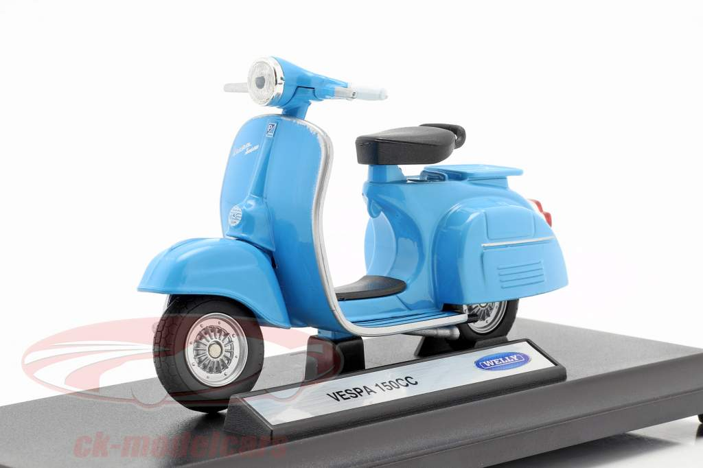 Vespa 150CC Baujahr 1970 blau 1:18 Welly