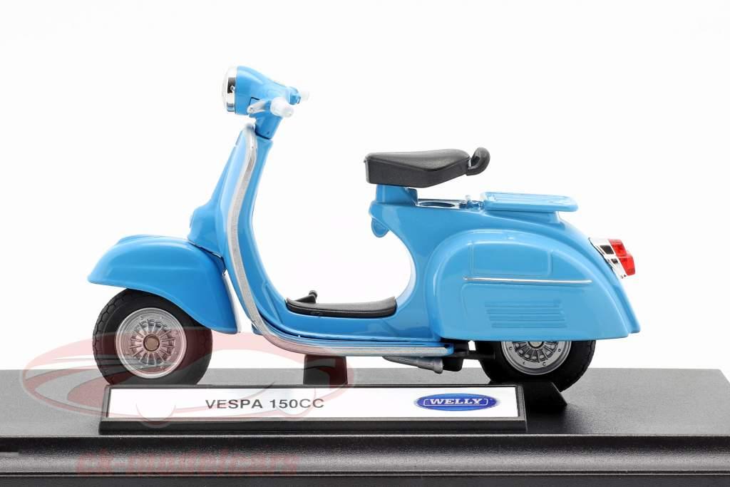 Vespa 150CC ano de construção 1970 azul 1:18 Welly