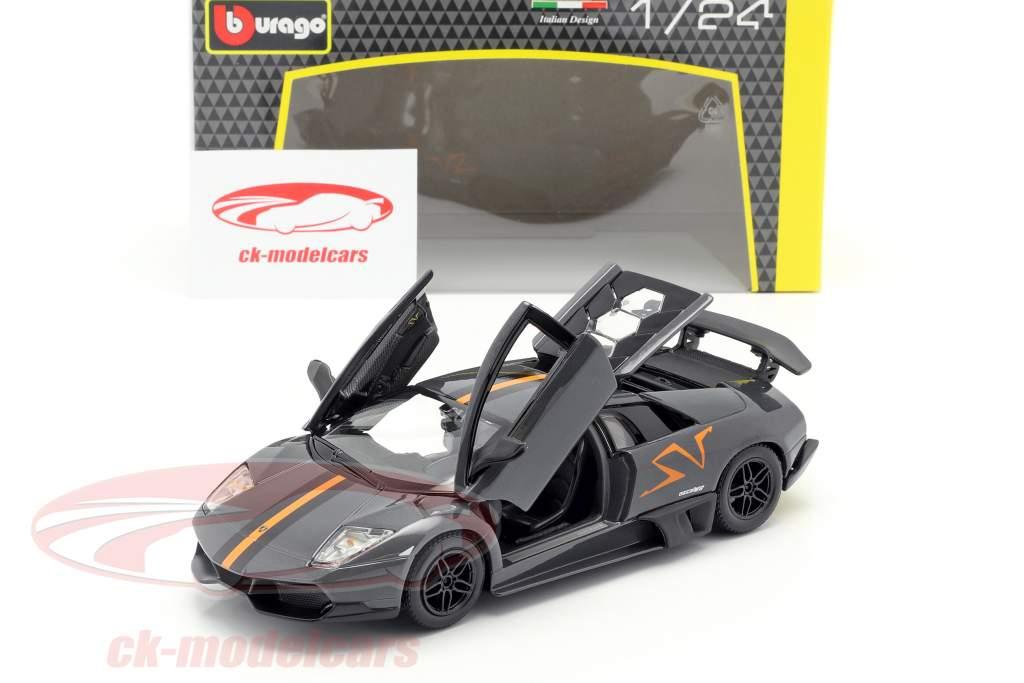 Lamborghini Murcielago LP670-4 SV grå / appelsin 1:24 Bburago