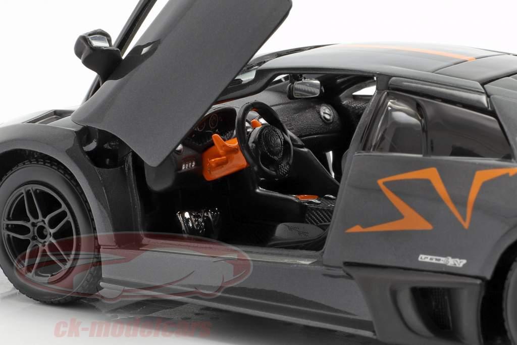 Lamborghini Murcielago LP670-4 SV cinza / laranja 1:24 Bburago