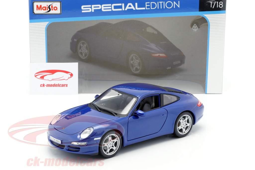 Porsche 911 (997) Carrera S blu 1:18 Maisto