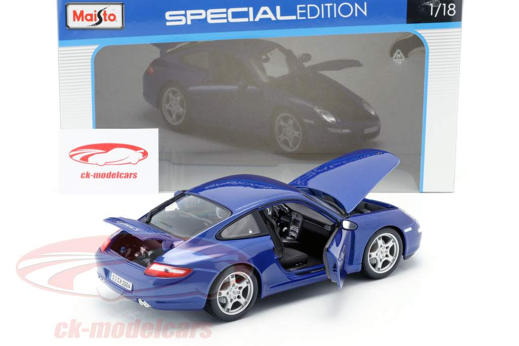 Porsche 911 (997) Carrera S blue 1:18 Maisto