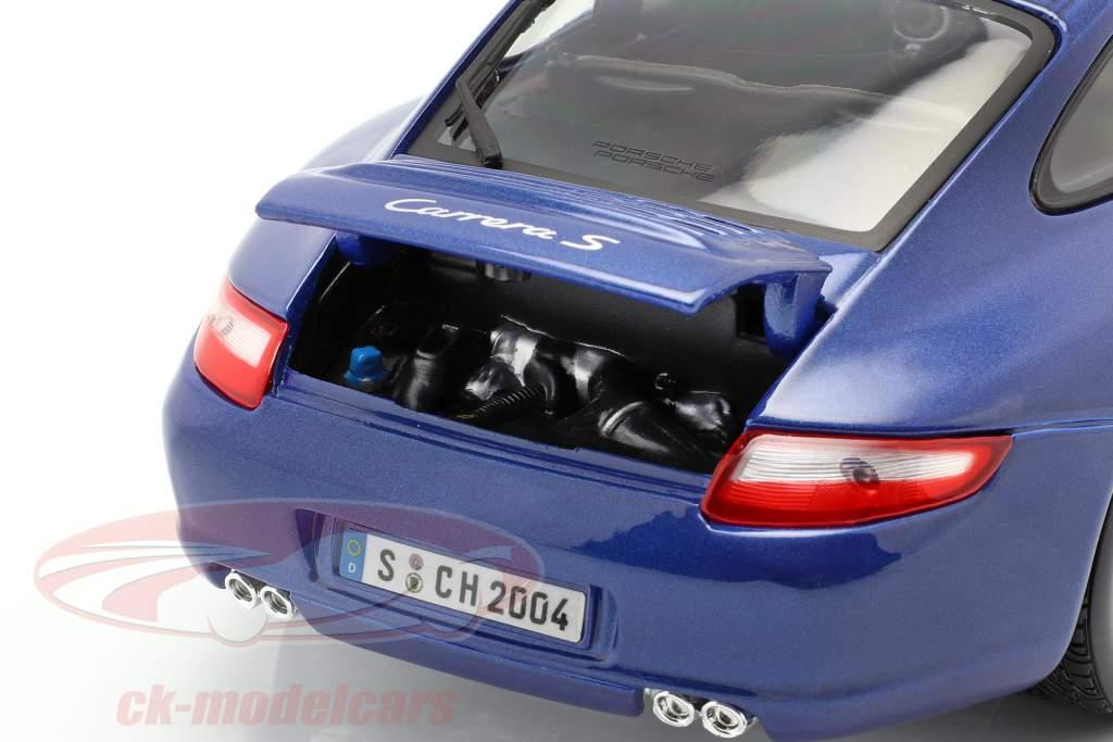 Porsche 911 (997) Carrera S Blauw 1:18 Maisto