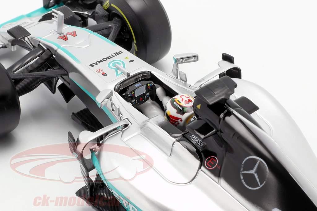 Lewis Hamilton Mercedes F1 W07 Hybrid #44 fórmula 1 2016 1:18 Bburago
