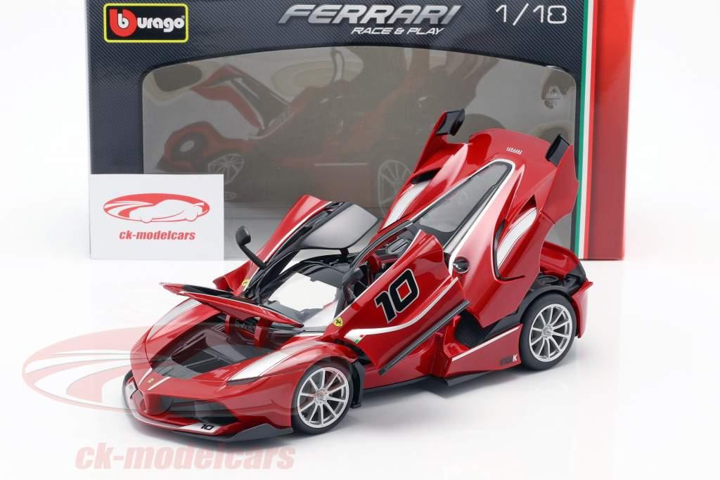 Ferrari FXX-K #10 rood / zwart 1:18 Bburago