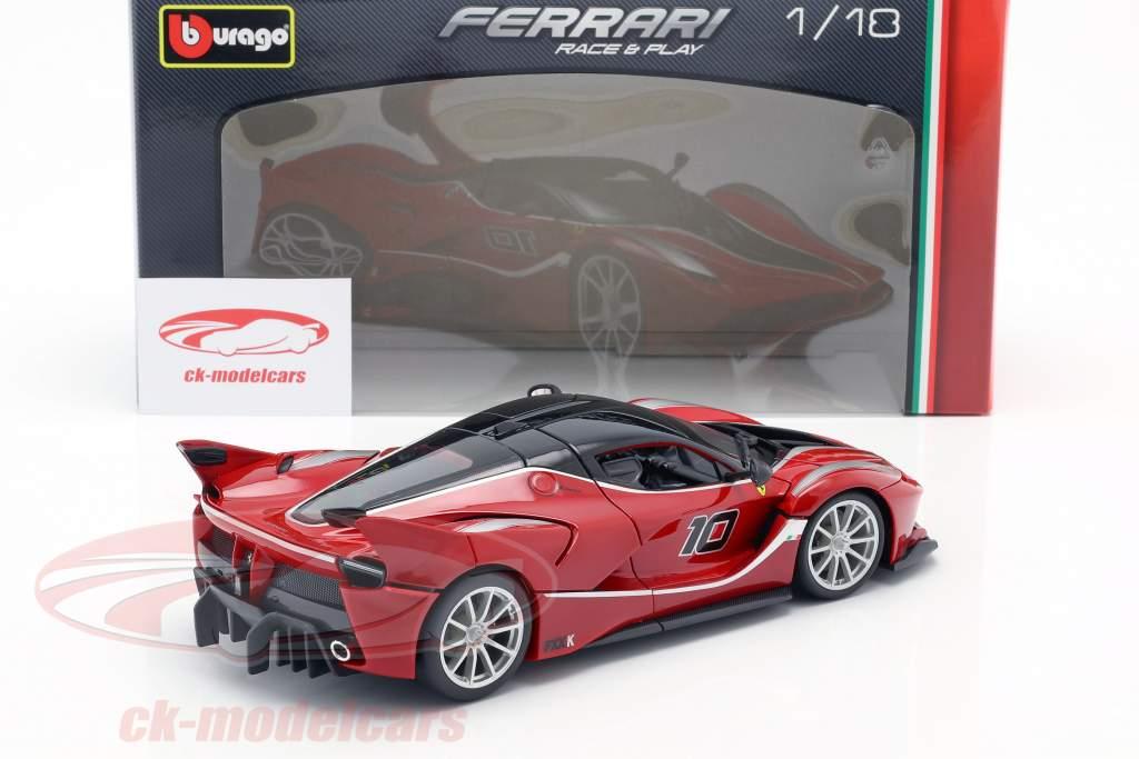 Ferrari FXX-K #10 rød / sort 1:18 Bburago