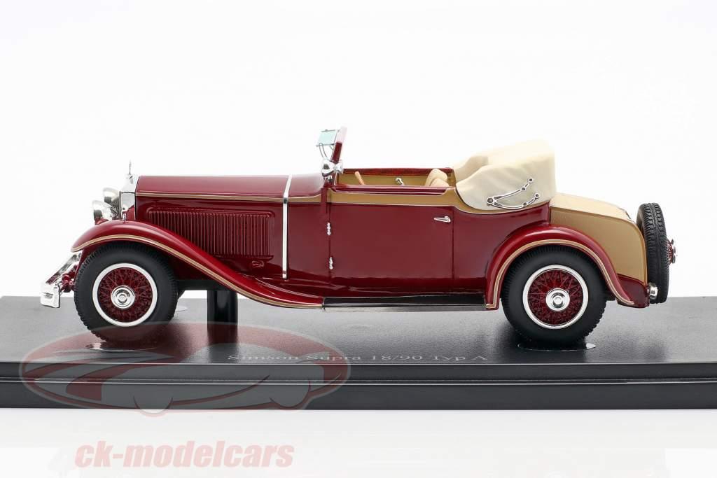 Simson Supra 18/90 Typ A Baujahr 1931 dunkelrot 1:43 AutoCult