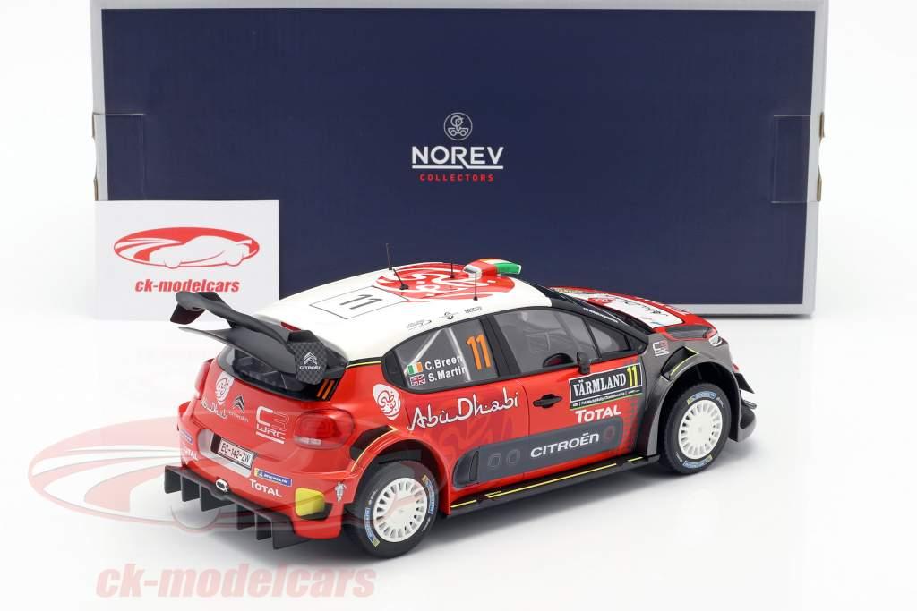 Citroen C3 WRC 2018 #11 2nd Rally Sweden 2018 Breen, Martin 1:18 Norev