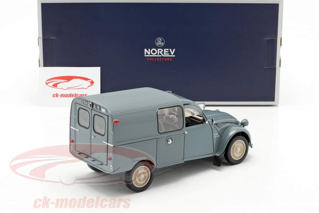 Citroen 2CV Fourgonette AK350 anno di costruzione 1966 blu 1:18 Norev