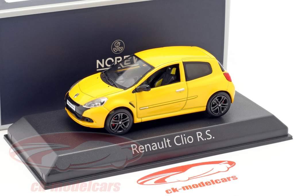 Renault Clio R. S. ano de construção 2009 Sírius amarelo 1:43 Norev