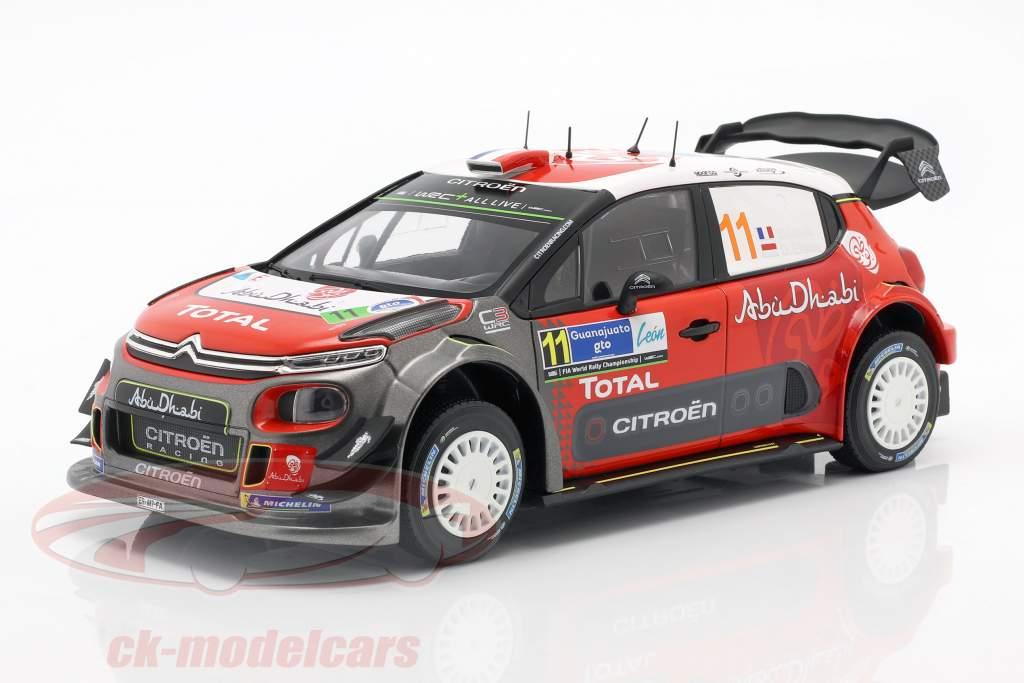 Citroen C3 WRC 2018 #11 Rallye Mexiko 2018 Loeb, Elena 1:18 Norev